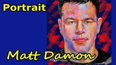 Matt Damon. Portrait