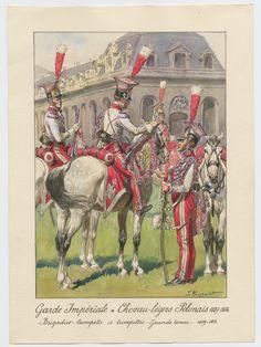 Garde Impériale - Chevau-légers Polonais 1807-1814: Brigadier-trompette et tropettes - Grande tenue - 1809-1814