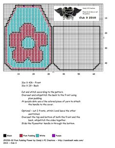 PLUM PUDDING FLOWER by CANDY'S PC CREATIONS --  FLYSWATTER COVER