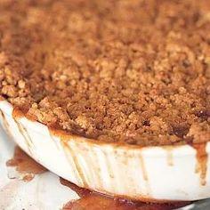 Barefoot Contessa | Bellinis! Easy Peach Crisp, Apple Crisp Easy, Apple Crisp Recipes, Old Fashioned Apple Crisp, Apple Crisp Topping, Apple Crisp Cheesecake, Oatmeal Crisp, Baked Apple Dessert, Slow Cooker Apples