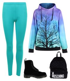 """""""Untitled #7"""" by whartonclara34 on Polyvore featuring WearAll, Dr. Martens and Moschino"""
