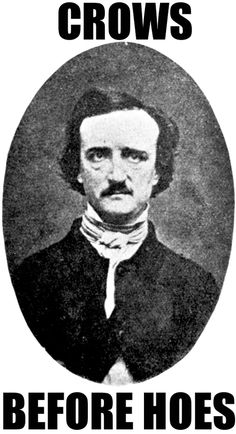 Portrait of American author/poet Edgar Allan Poe with original 1800s text lithograph.