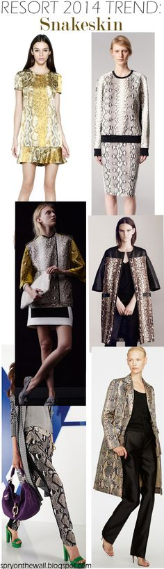 Resort 2014 Trends - snakeskin - Spry On The Wall