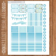 Colorful Fish Planner Stickers Printable by PrintThemAllStudio