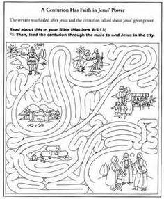jesus heals the centurions servant activity yahoo image search results jesus heals craftchildrens