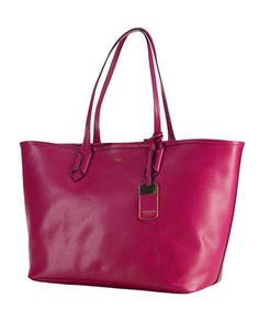 LAUREN RALPH LAUREN Tate Classic Leather Tote Bag