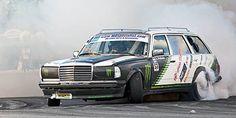 Finnish Drifting Mercedes w123 (Driver Teemu Peltola)