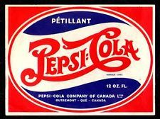 1940s Pepsi-Cola Double Dot French Paper Bottle Label