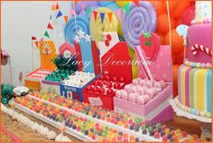 wreck it ralph candy table - Google Search