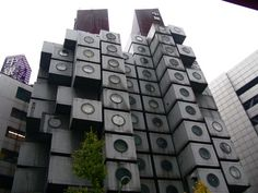 The Nakagin Capsule Hotel Tower in Shimbashi was the first of its kind in the world; a wholly modular building. This was a failed experiment built in 1972 that is soon to be demolished.