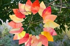 Watercolor leaves - do for November & write thanks on each leaf...