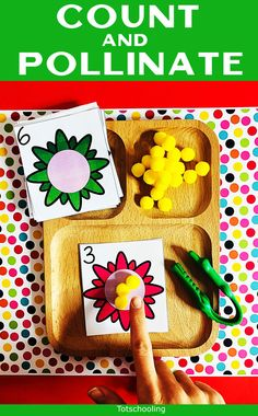 Count and Pollinate - Number Sense Activity Number Sense Activities, Math Activities For Kids, Preschool Literacy, Free Preschool, Creative Activities, Numbers For Kids, Number Recognition, Bee Theme, Math Centers