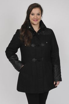 Excelled outerwear at Kohl's - Shop our full line of women's outerwear,  including this Excelled Hooded Toggle Wool-Blend Coat - Women's Plus Size,  ...