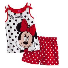 Disney Mickey Mouse and Friends Minnie Mouse Polka-Dot Pajama Set - Girls #DestinationSummer #Kohls