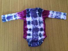 Tie Dye long-sleeve onesie - size 18 months - purple ombre
