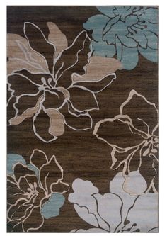 Oh! Home Milan Collection Ivory/ Turquoise Area Rug (8' x 10'3) by Oh! Home