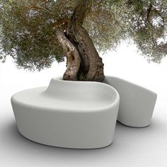 meubles de jardin design: banc Sardana par Qui est Paul
