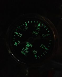 Seven Sins Choppers ZOMBIE BOLT Oil Gauge 0-60 Glows In The Dark. #harleydavidson #oilgauge #chopper #sevensinschoppers #dragracing #racing #hotrod #glow #gauge #sportster #shovelhead #panhead #knucklehead