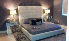 Look at this contemporary bed Room in Miami with Max Martini Jaipur #wallcovering. Amazing, isn't? Project by Mia Home Trends, Ft. Lauderdale, FL.