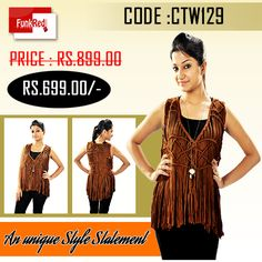Get praised everywhere for your unique style sense wearing this amazing top.