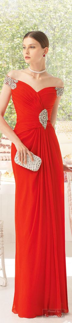 Aire red maxi off shoulder elegant dress women fashion outfit clothing style apparel closet ideas Red Fashion, Couture Fashion, Fashion Beauty, Orange Fashion, High Fashion, Fashion Outfits, Womens Fashion, Beautiful Gowns, Beautiful Outfits
