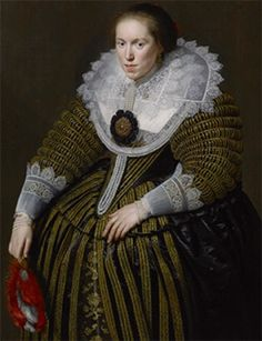 Emerentia de la Kethulle, nee van Ravenswaay (1593 – 1634),the portrait by Paulus Moreelse  Artdaily.org - The First Art Newspaper on the Net