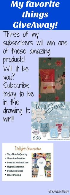 I have partnered with consultants who sell Scentsy, Plexus, and KEEP. Subscribe to be entered to win! | shemakes10.com