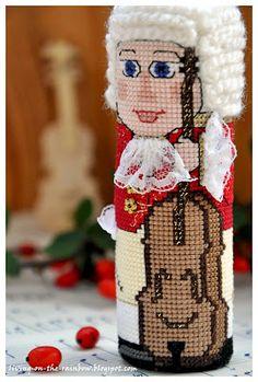 "Живущая на Радугe: Схема к Елочной Игрушке ""Виолончелист"" / Christmas Ornament 'Cellist' Free Pattern"