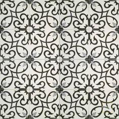 Guest bathroom - flooring wet room - Lucifer C14-4-24 - moroccan cement tile