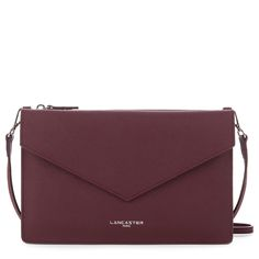 Burgundy clutch bag, Element AIR DUO, Lancaster Paris. #bag #clutch #envelope #sac #pochette #burgundy #bordeaux #element #saffiano #fashion #britchic #accessory #lancaster #lancasterparis