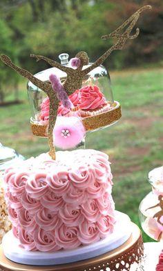 Pink & Gold Ballerina Birthday Party Ideas | Photo 6 of 21