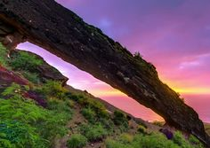 The Koko Crater Arch is a natural rock formation located on one of the ridges leading up to the top of the Koko Head mountain in Oahu, Hawaii. Aloha Hawaii, Rock Formations, Adventure Awaits, Arch, Vacation, Outdoor, Paradise, Destinations, Places