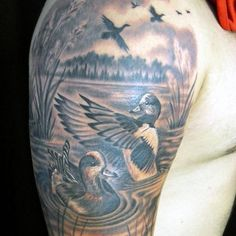 70 Duck Tattoos For Men - Masculine Waterfowl Ink Designs