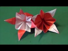 "「花」折り紙""Flower"" origami - YouTube"