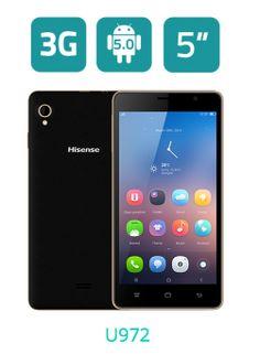 "U972     Pantalla 5"" HD, TFT     Android 5.0     SC7731 Quad-core 1.3 GHz     Memoria: 8 GB ROM + 1 GB RAM     DUAL SIM CARD     Cámara trasera 5M CMOS (AF) Flash     Cámara delantera 2M FF     Batería 2.000 mAh #Smartphone #Hisense #LifeReimagined #Android"