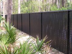 chain link fence vinyl slats - Google Search