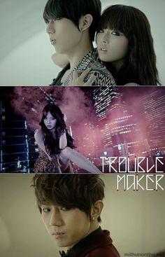 Trouble Maker #HyunA #Hyunseung http://mithunonthe.net/2011/12/01/kpop-review-ukiss-tick-tack-apink-mymy-troublemaker-mv-mp3-single/ #kpop