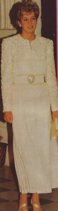 March 3, 1993: Princess Diana at a reception given by the Prince Dipendra Kathmandu during a tour of Nepal, India.