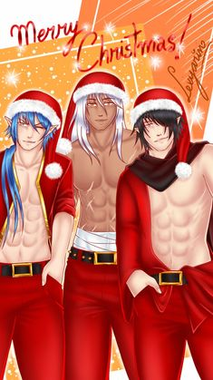 O Natal passou, mas eu quero esses papais Noels aqui, em vez de ser na chaminé, que tal na minha cama? 7w7