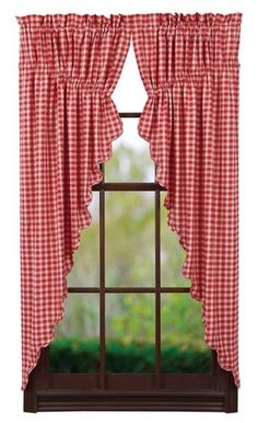 Breckenridge Scalloped Lined Prairie Curtains