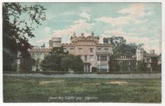 Hawarden Castle near Chester Wales Vintage Postcard - Home of William Gladstone