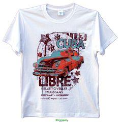 T-Shirt KeeVeet CUBA LIBRE Ragazzo Realtà Aumentata con App. Cotone Misura XL. - T-Shirt KeeVeet Realta' Aumentata con App - Regali Curiosi