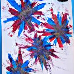 Make Firework Prints Using a Toothbrush