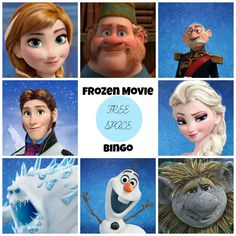 Frozen Movie Bingo Printable Game Card (with pics)