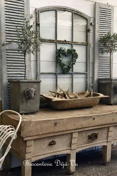 All Time Best Diy Ideas: Shabby Chic Home Mirror shabby chic style.Shabby Chic Home Farmhouse Style. Shabby Chic Mode, Style Shabby Chic, Shabby Chic Kitchen, Shabby Chic Decor, Rustic Decor, Farmhouse Decor, Farmhouse Shutters, Rustic Shutters, Repurposed Shutters
