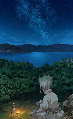 Anime Dr. Stone Senku Ishigami Wallpaper Fond d'écran