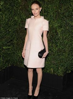 Stunning:  Kate Bosworth looked picture perfect in her pale pink dress