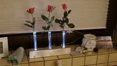 Edelstahl mit LED