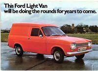 12f4f5dc28 Ford Escort Mk1 Van 6   8 cwt 1973-75 UK Market Foldout Sales Brochure