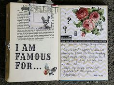 """I am famous for...(Iove her first entry...would me mine too """"my camera ALWAYS being around"""")"""